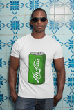 """Afri-Can"" (Soda) Organic Cotton T-Shirt - White"