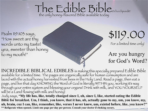 the edible bible advertisement