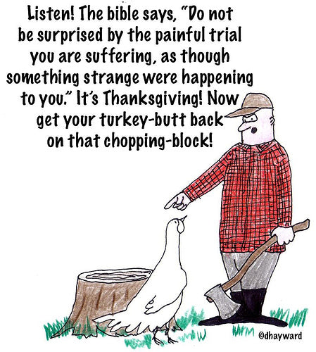 old thanksgiving cartoon (meh)