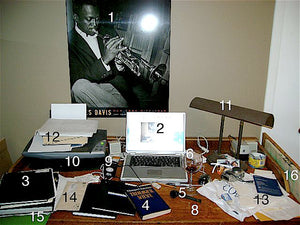 my desk @ home