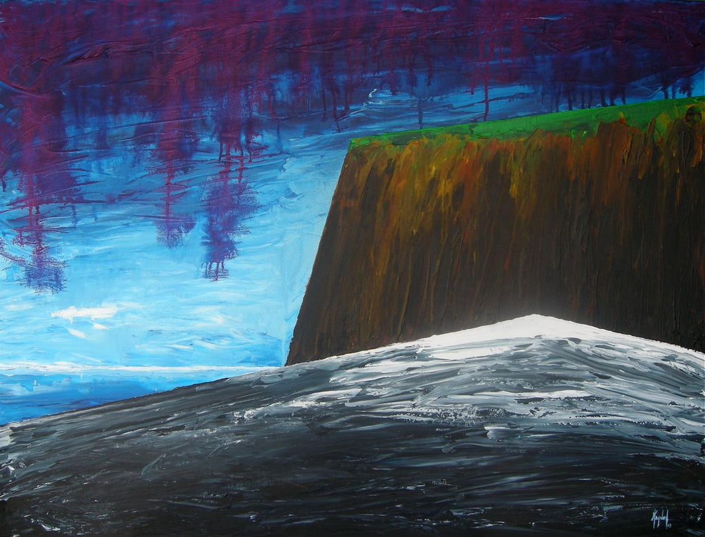 "acrylic on canvas painting ""fundy shore"""