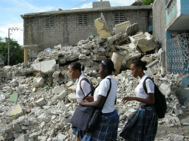 School Girls in Haiti