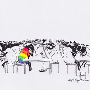 Jesus Eats with the LGBTQ Sheep