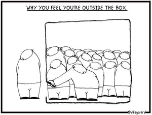 cartoon: boxed in or boxed out
