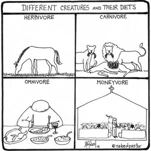 Different creatures and their diets: What does the church eat?