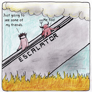 """The Escalator"" Caption This Cartoon Contest"