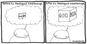 cartoon: God in a Box