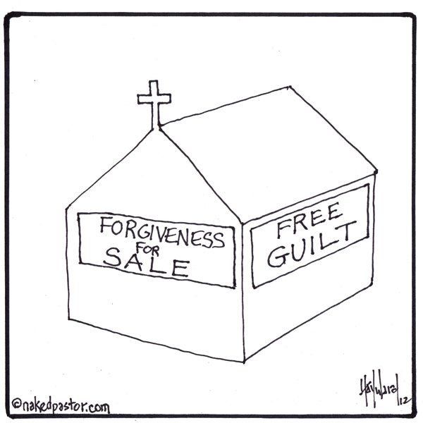 Free Guilt. Forgiveness for Sale.