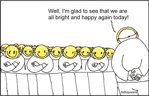 cartoon: happy happy people