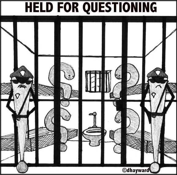 cartoon: held for questioning
