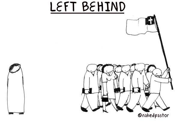 cartoon: oh no! left behind!!