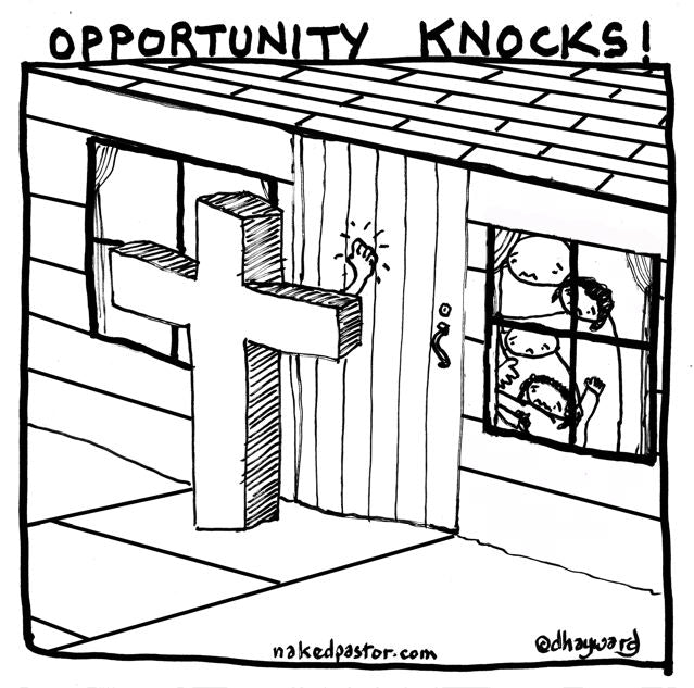 cartoon: opportunity knocks
