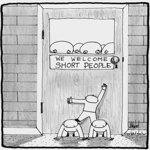 We Welcome Short People