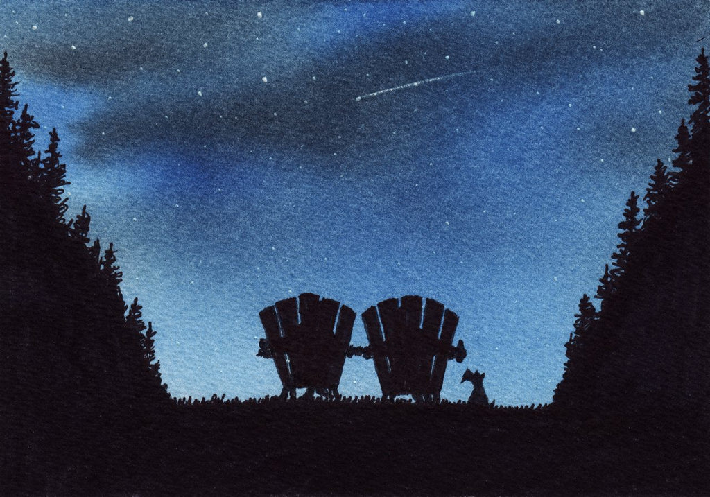 illustration friday: star gazing
