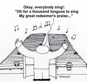 cartoon: incongruous congregational chorus?