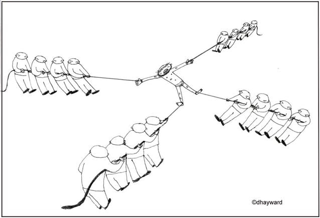 cartoon: Tug-of War Games