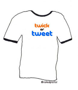 tweet tee (halloween theme)