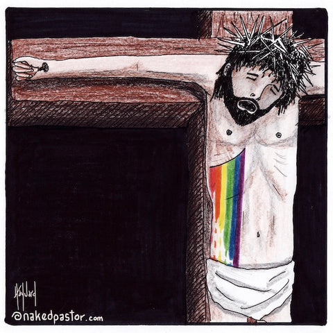 the rainbow blood of jesus cartoon by nakedpastor david hayward