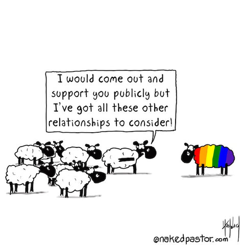 """""""Support You Publicly"""" cartoon by nakedpastor David Hayward"""