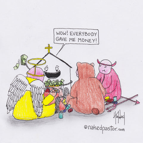 """The Church's Treat Bag"" cartoon by nakedpastor David Hayward"