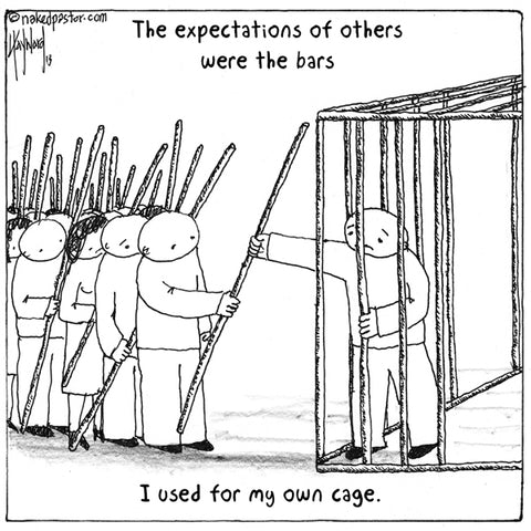 """Expectations of Others"" cartoon by nakedpastor David Hayward"