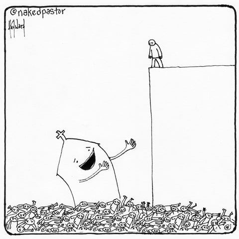 jump cartoon by nakedpastor david hayward