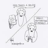 God Takes a Selfie CARTOON