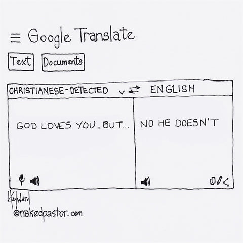 Google Translate God Loves You But Cartoon
