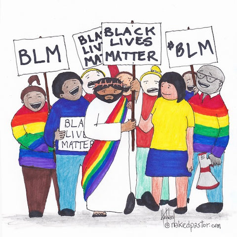 Jesus LGBTQ and BLM CARTOON