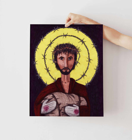 RefuJesus Image of Christ Print