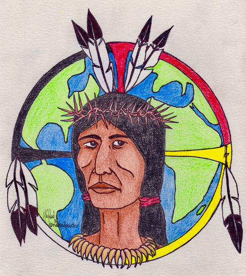 "Jesus ""Standing Rock"" Icon DRAWING"