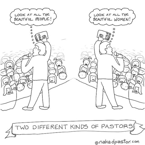 Two Different Kinds of Pastors DIGITAL DOWNLOAD Cartoon