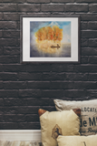 In Search of the Illusive WATERCOLOR Painting PRINT Poster