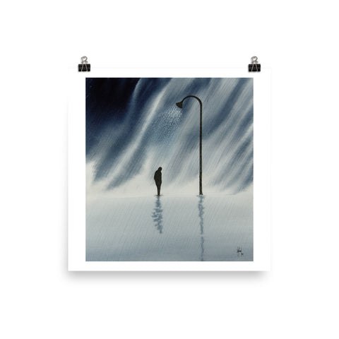 Lonely Rain PAINTING PRINT Poster