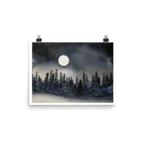 I Can Walk in Darkness WATERCOLOR Painting PRINT Poster