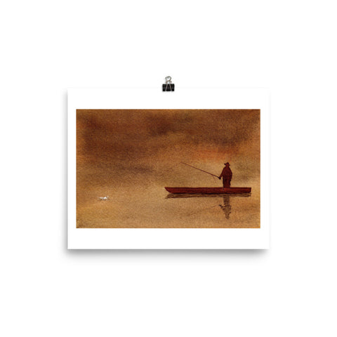 I Will Learn Patience WATERCOLOR Painting POSTER Poster