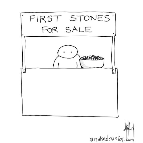 First Stones for Sale CARTOON
