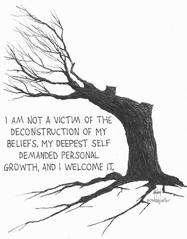 I Am Not a Victim Original Cartoon Drawing