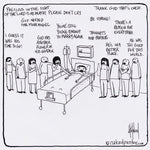 Death Bed Disasters CARTOON