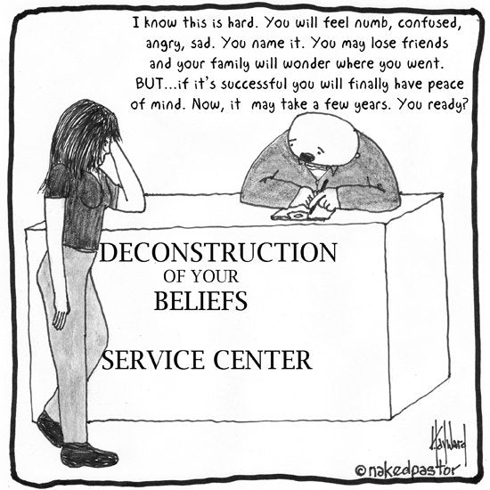 Deconstruction Service Center Fine Art REPRODUCTION print