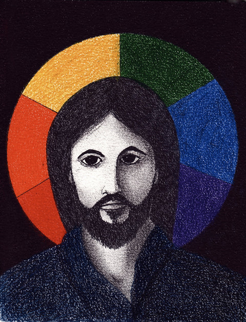 "Jesus ""Includer"" drawing FINE ART PRINT"