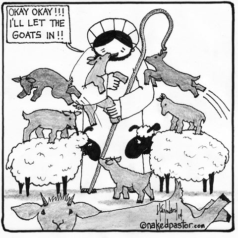 Jesus and Goats CARTOON