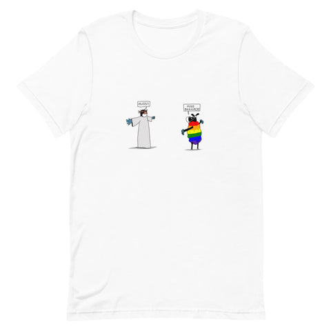 Hugs Back Unisex T-Shirt