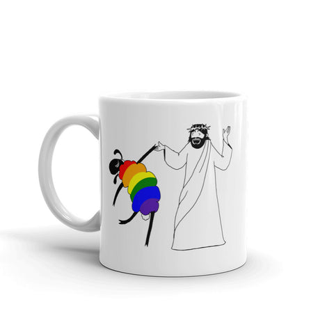 Jesus Dances with the LGBTQ Sheep Mug