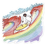 Wave of Gay Theology Stickers