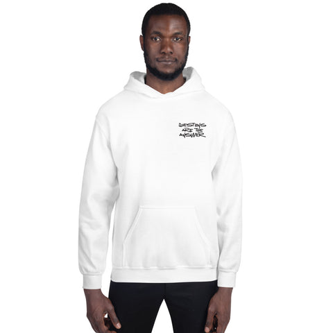 Questions are the Answer Small Logo Unisex Hoodie