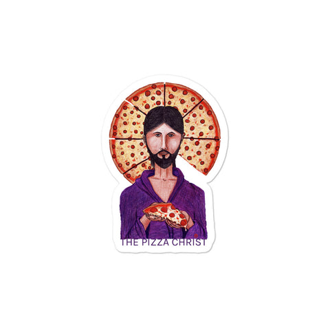 Pizza Christ Sticker