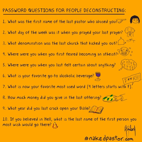 Deconstruction Password Questions CARTOON