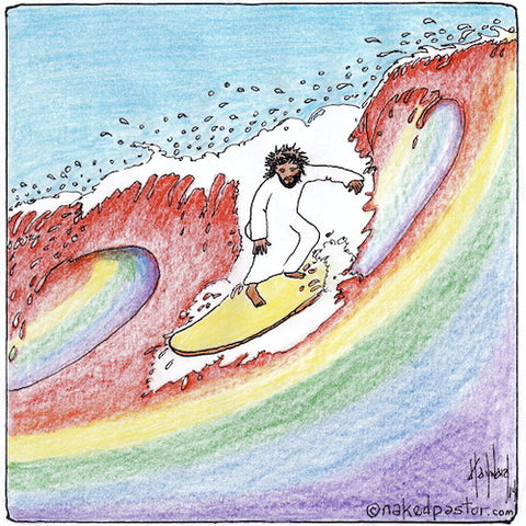 Gay Wave of Theology Original Cartoon Drawing