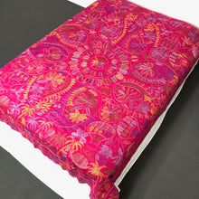 Load image into Gallery viewer, Queen Size Pink Nakshi Kantha Embroidered Cotton Bed Cover